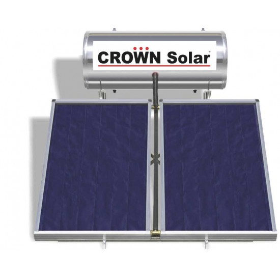 Solar L300 with 2 collectors 2,5m2 double energy roof base