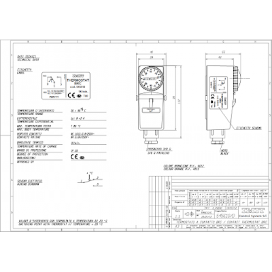 Contact thermostat IMIT 545610