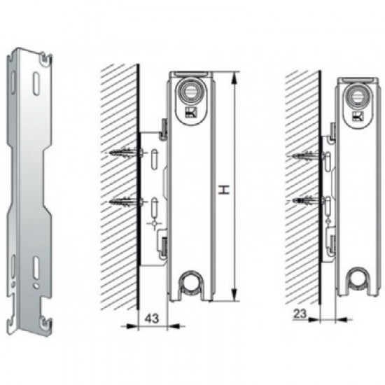 Supports for bodies 900mm PANEL