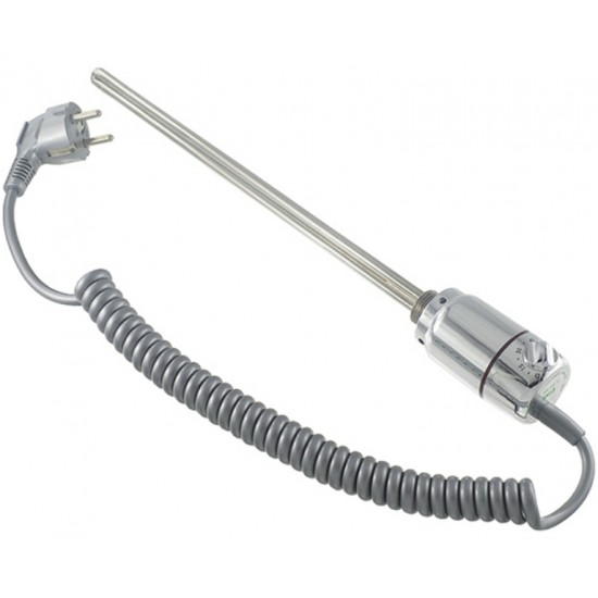 Towel dryer resistance with external thermostat 600w inox