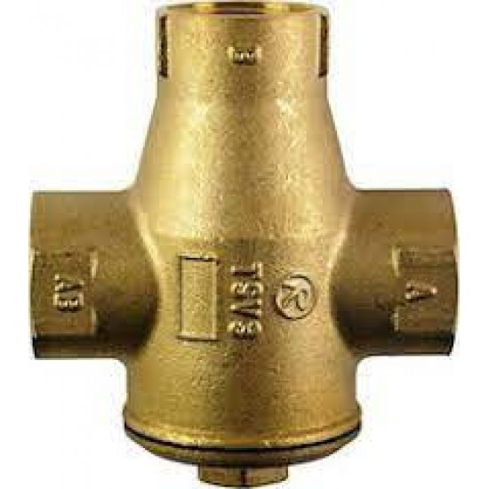 Thermostatic mixing valve 1 '' 55 ° C with automatic BY-PASS REGULUS