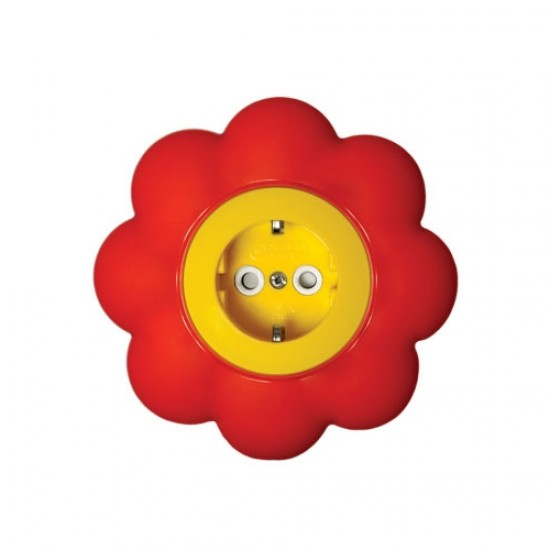 Souk socket with  protection -  flower