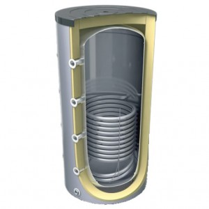 Container with single coil